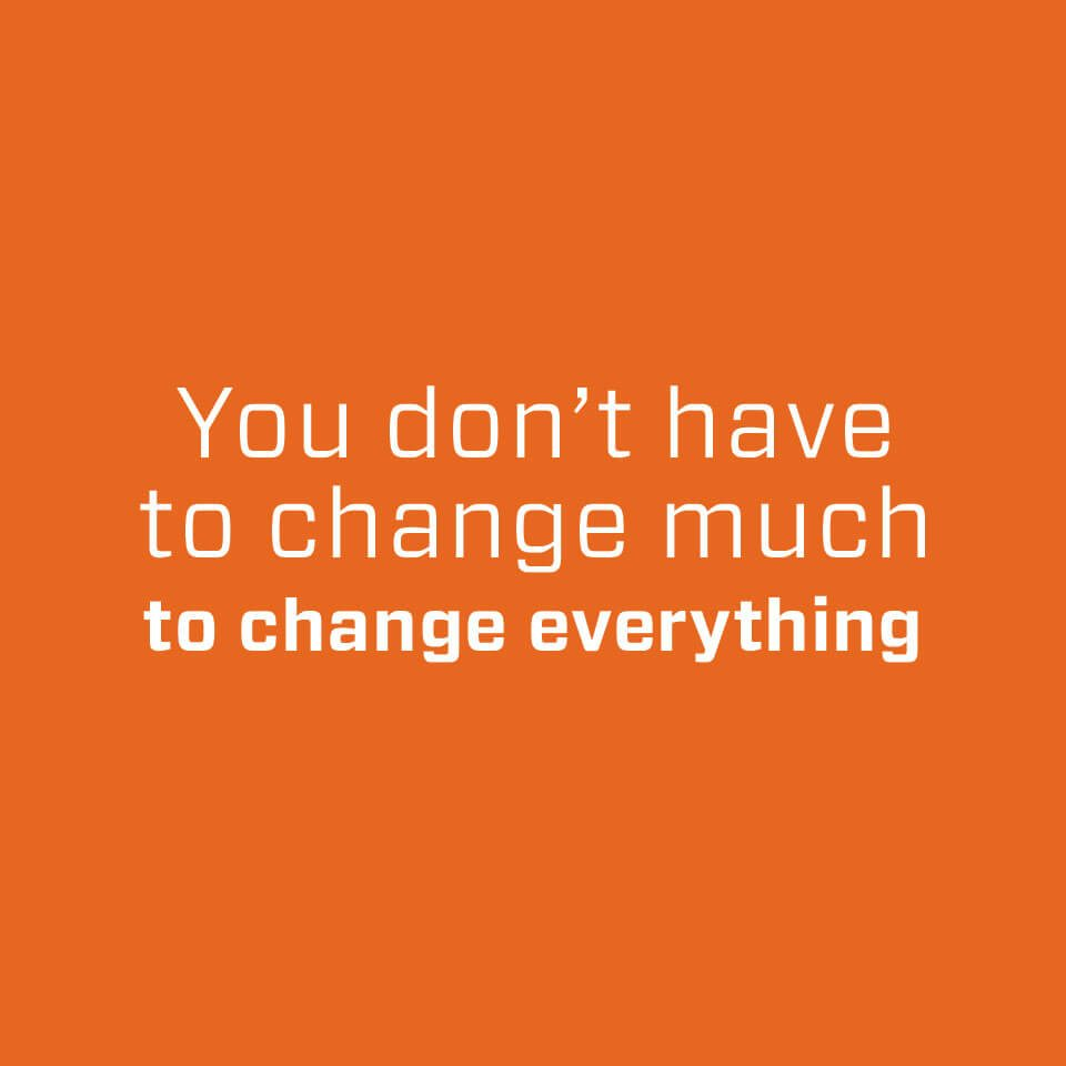 You don't have to change much to change everything poster