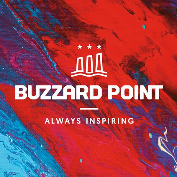 Buzzard Point Logo, an urbanized area located on the peninsula formed by the confluence of the Potomac and Anacostia Rivers in the southwest quadrant of Washington, D.C., USA.