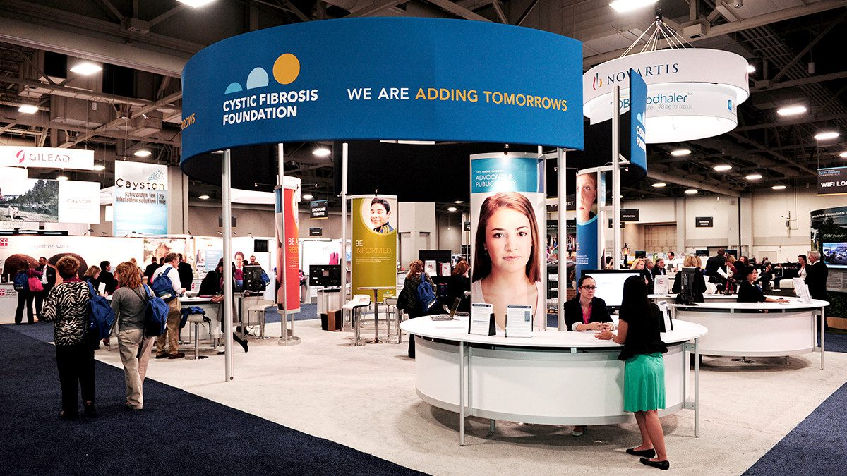 Tradeshow mock-up of CFF's experiential marketing initiatives executed by top digital marketing agency, Grafik.