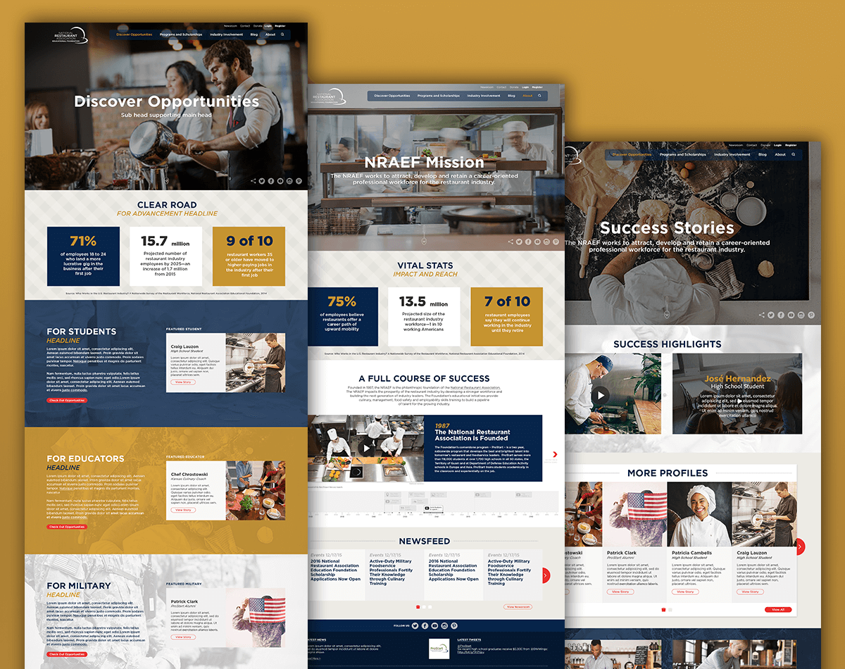 NRAEF's new responsive web design with strong visual identity by one of the top digital agencies in alexandria va.