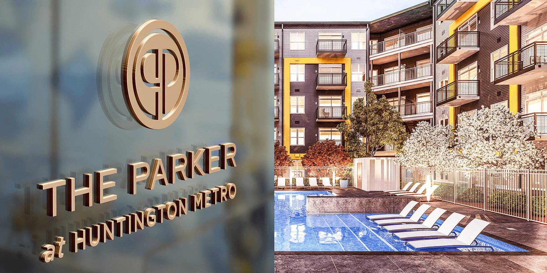 Brand identity and naming of The Parker by Bozzuto was executed by top branding agency, Grafik.