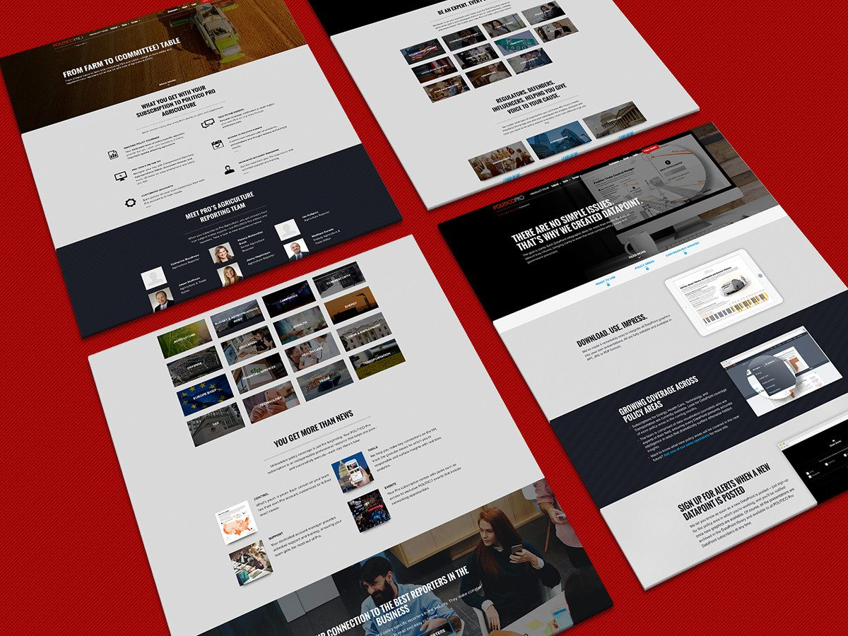Case study of a successful website redesign for Politico Pro done by top marketing agency, Grafik.
