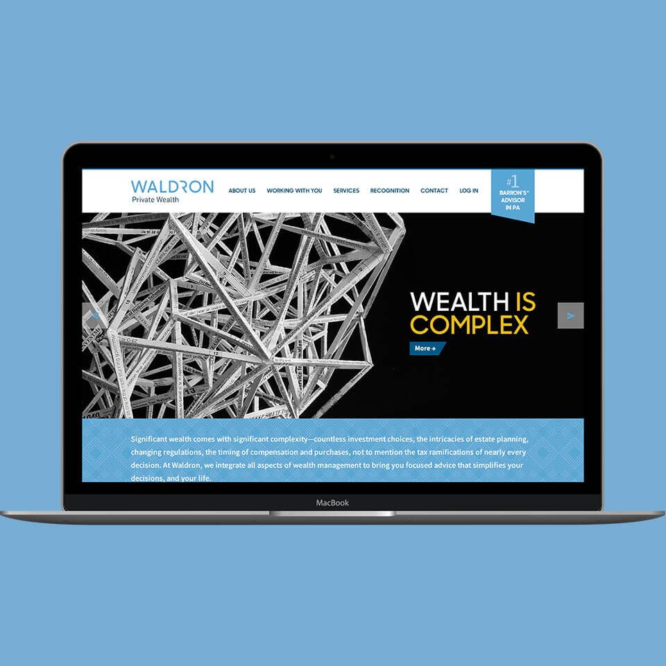 Top digital marketing agency, Grafik, redesigned Waldron's website to increase customer engagement and improve UX.