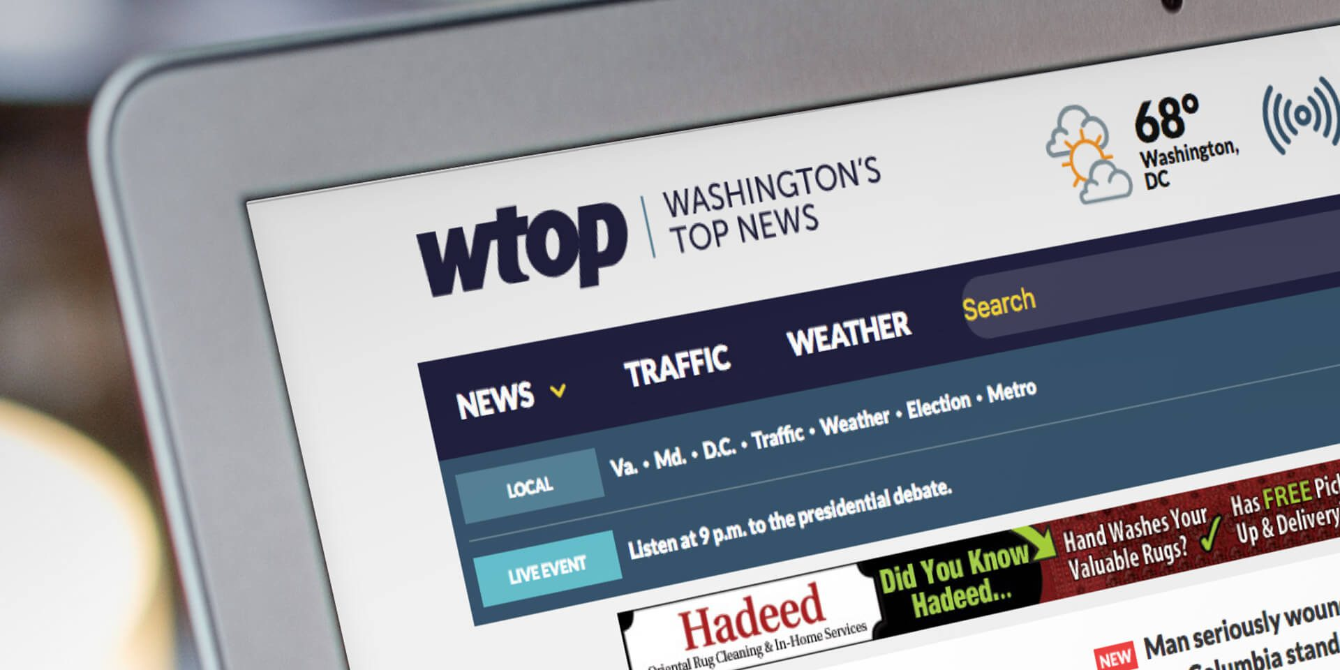 The new website of Washington DC's top news source.