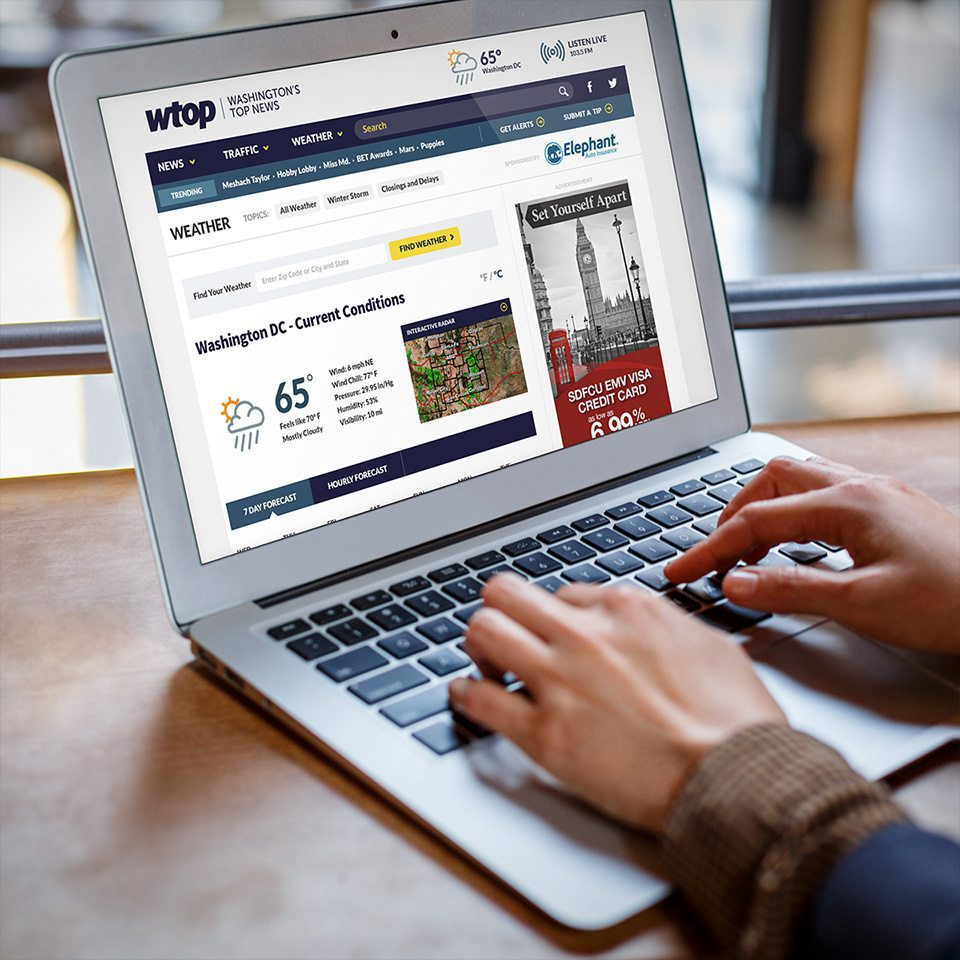 WTOP ux user experience was important to news consumers interested in a strong responsive web design to get the latest in the Washington DC area.