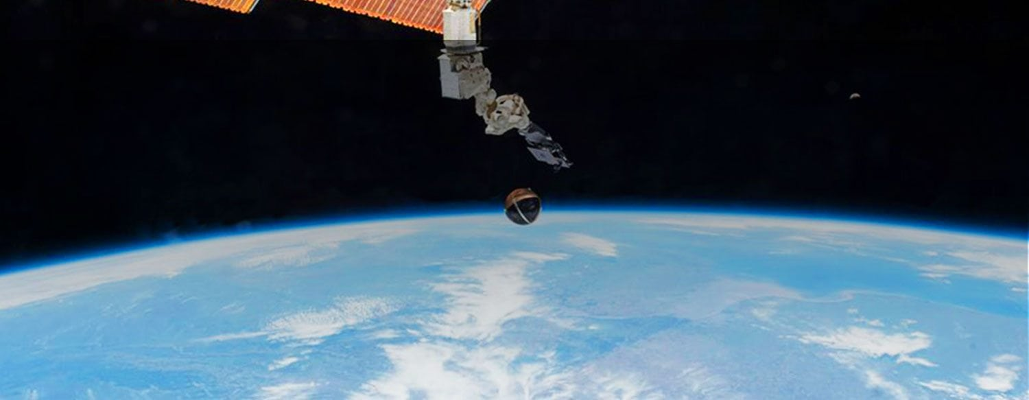 Space station with the background of the Earth