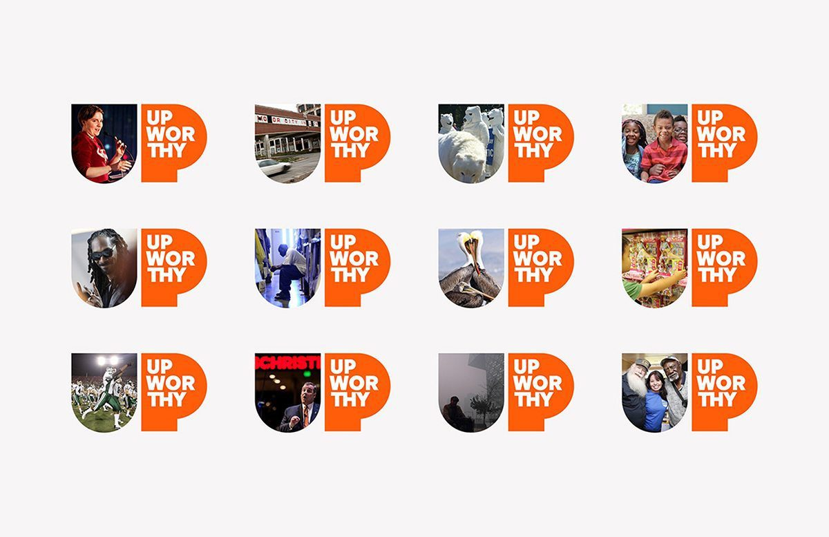 Upworthy logo adapts to various content